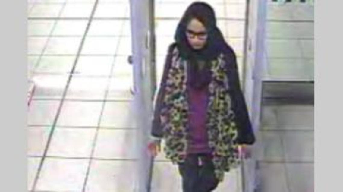 Shamima Begum, 15, at Gatwick airport. (Photo courtesy: Metropolitan Police)