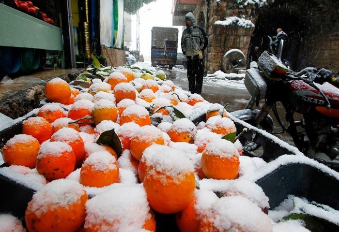 Snow blankets parts of Lebanon