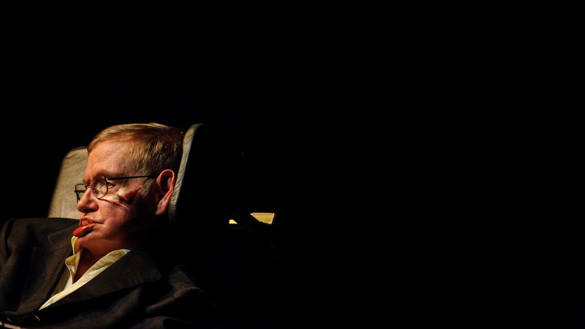 """Astrophysicist Stephen Hawking, of England, presents a lecture titled, """"Out of a Black Hole"""" at Texas A&M, in College Station, Texas, Monday, April 5, 2010. (File photo: AP)"""