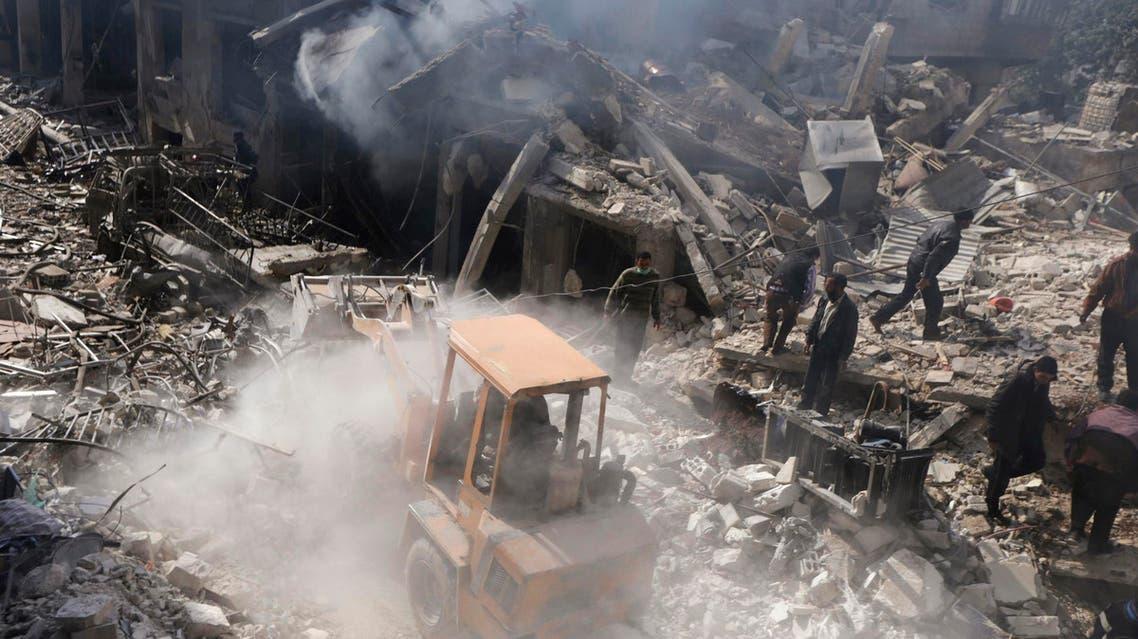 آثار الدمار في دوما