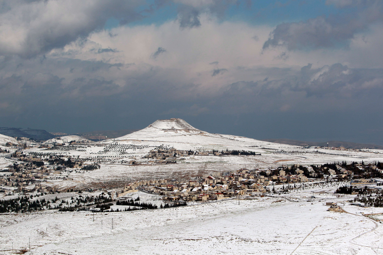 آثار العاصفة في الضفة الغربية