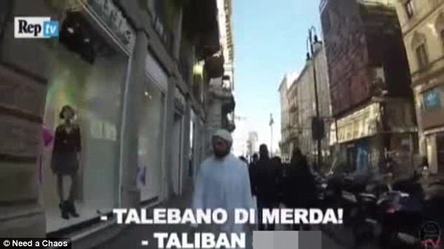 Muslim man in milan screengrab