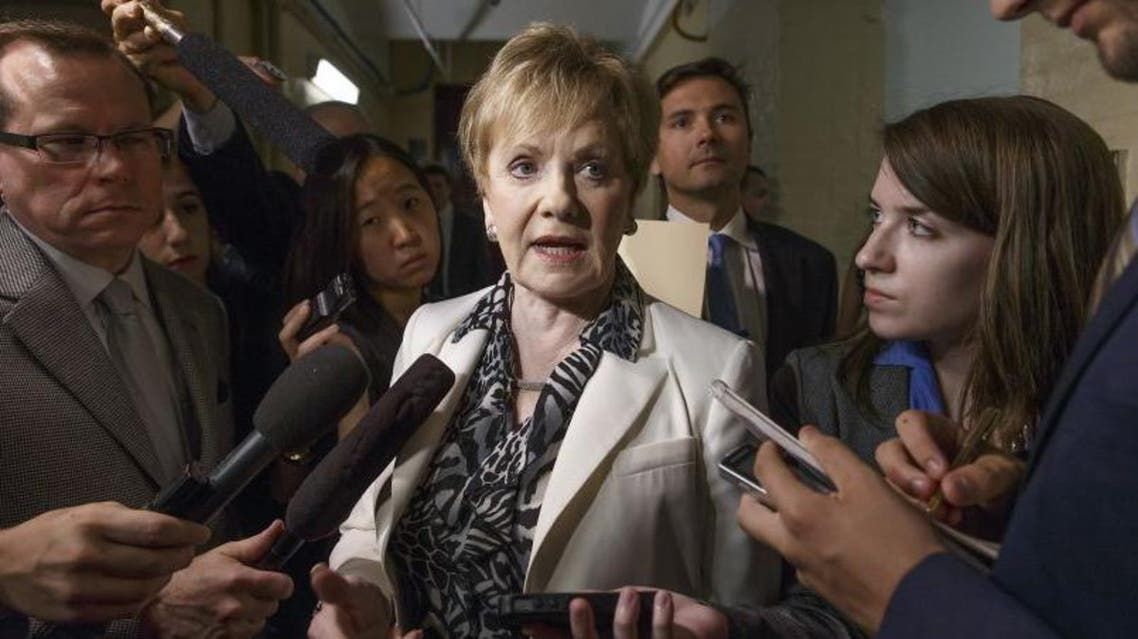 Rep. Kay Granger, R-Texas, speaks to reporters on Capitol Hill in Washington, Friday, July 25, 2014. (AP)