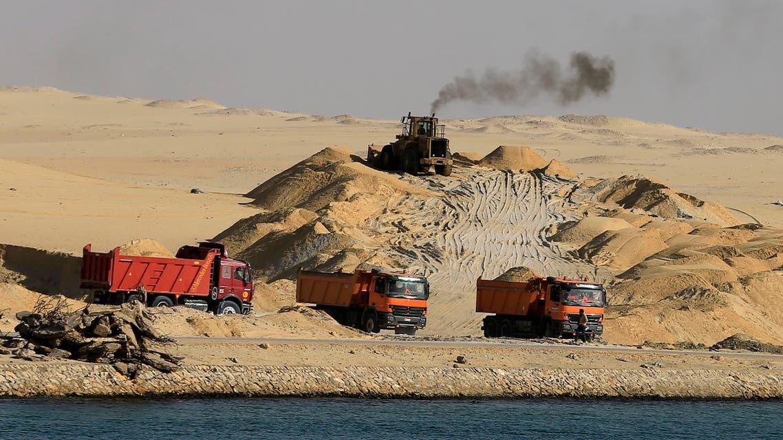 Suez Canal expansion AP