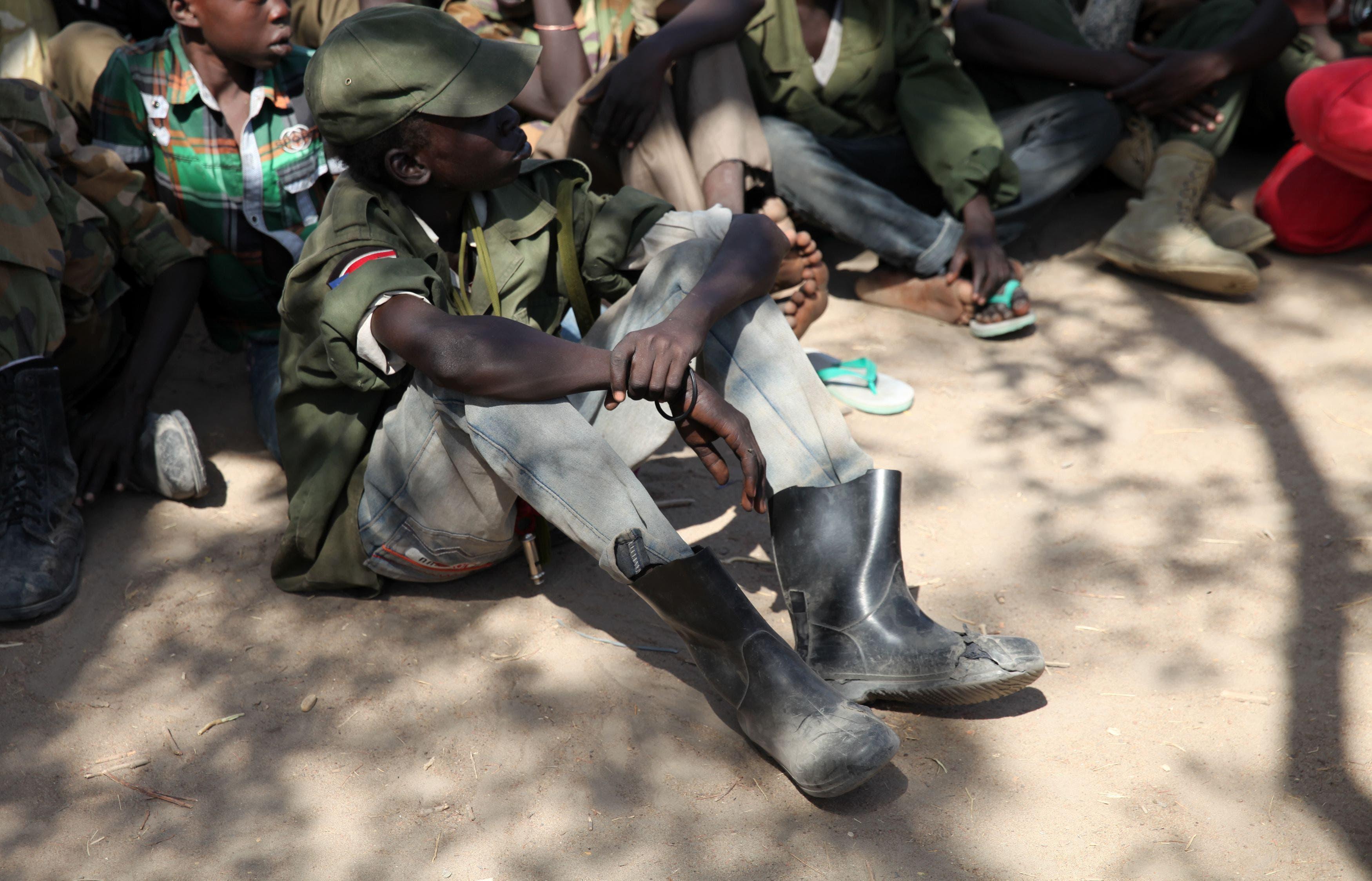أطفال جندوا للقتال في جنوب السودان