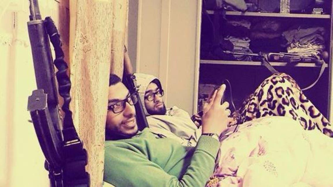 صورة لمحمود الغندور مع إسلام يكن في الأنبار العراقية