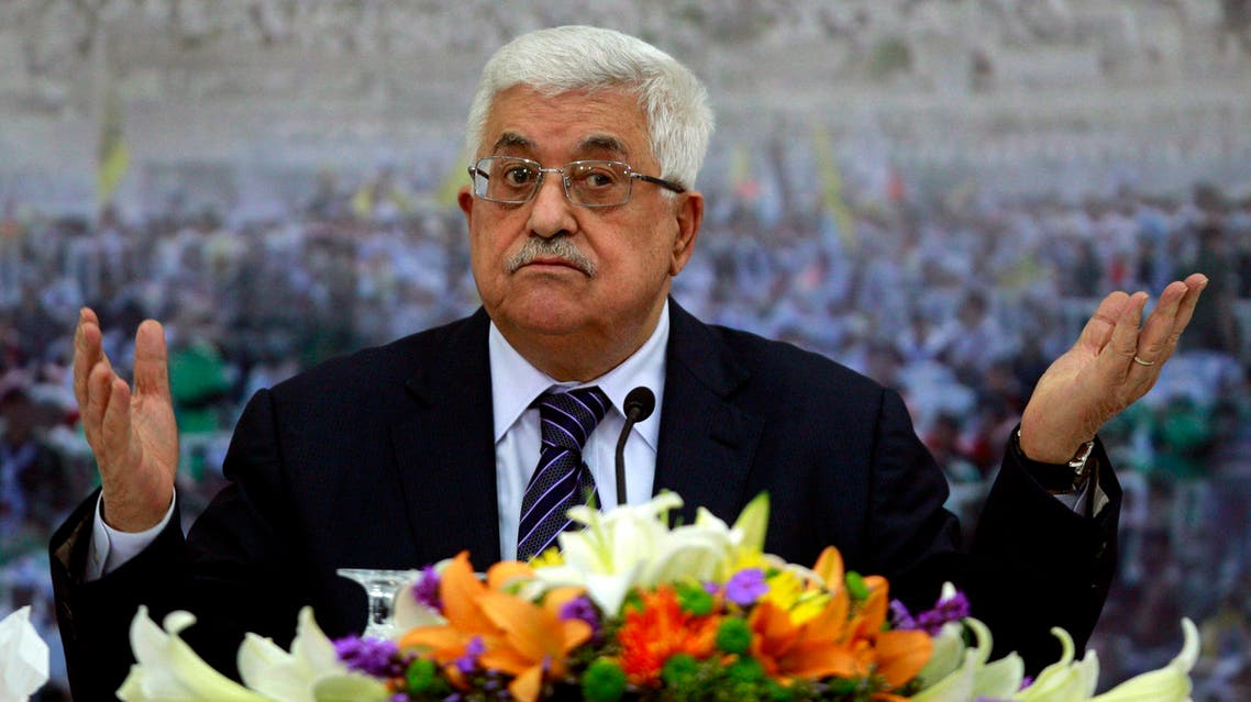 In this Nov. 16, 2012 file photo, Palestinian President Mahmoud Abbas speaks during a meeting of the Palestinian leadership at his compound in the West Bank city of Ramallah. After a decade in power, Abbas is no closer to a deal on Palestinian statehood, has failed to reclaim the Gaza Strip from political rival Hamas and is being disparaged by some as a pliant guardian of Israeli security needs in the West Bank. AP