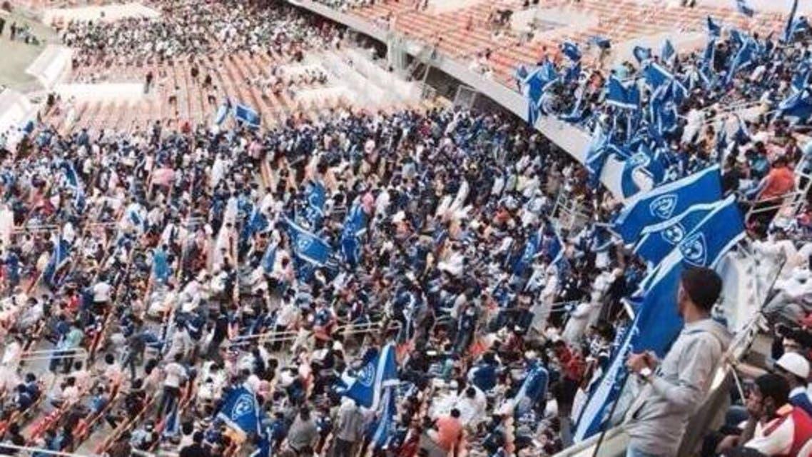 جماهير زرقاء ساندت الفريق في جدة حتى صافرة النهاية