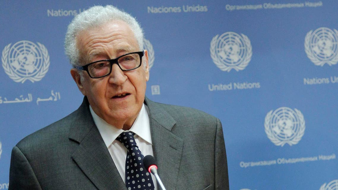 In this photo provided by the United Nations, Lakhdar Brahimi, Joint Special Representative of the United Nations and the League of Arab States for Syria, announces his resignation on Tuesday, May 13, 2014. (AP)