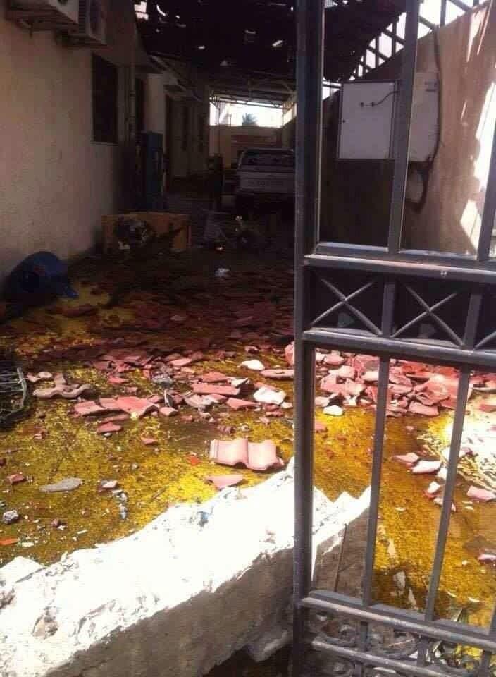 صور تفجير منزل السفير الايراني في طرابلس