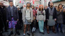 Turkish men don skirts to campaign for women's rights