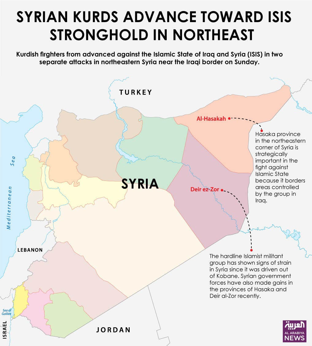 Infographic: Syrian Kurds advance toward ISIS stronghold in northeast