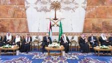 King Salman receives Palestinian president in Riyadh