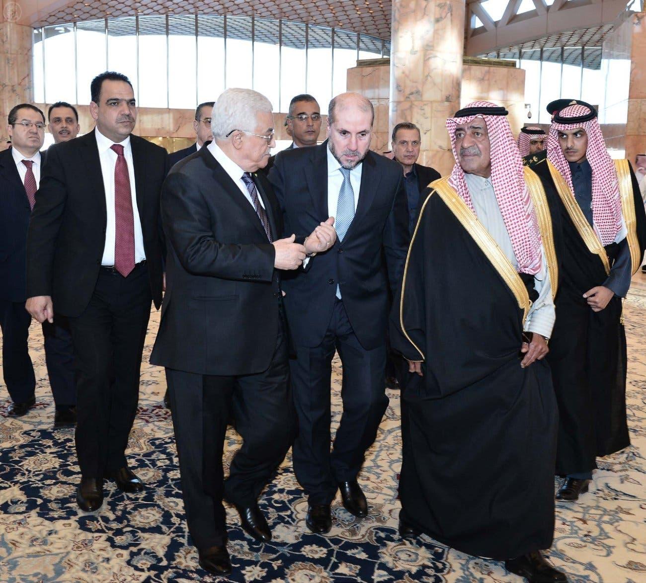 Palestinian President Mahmoud Abbas Saudi Arabia SPA