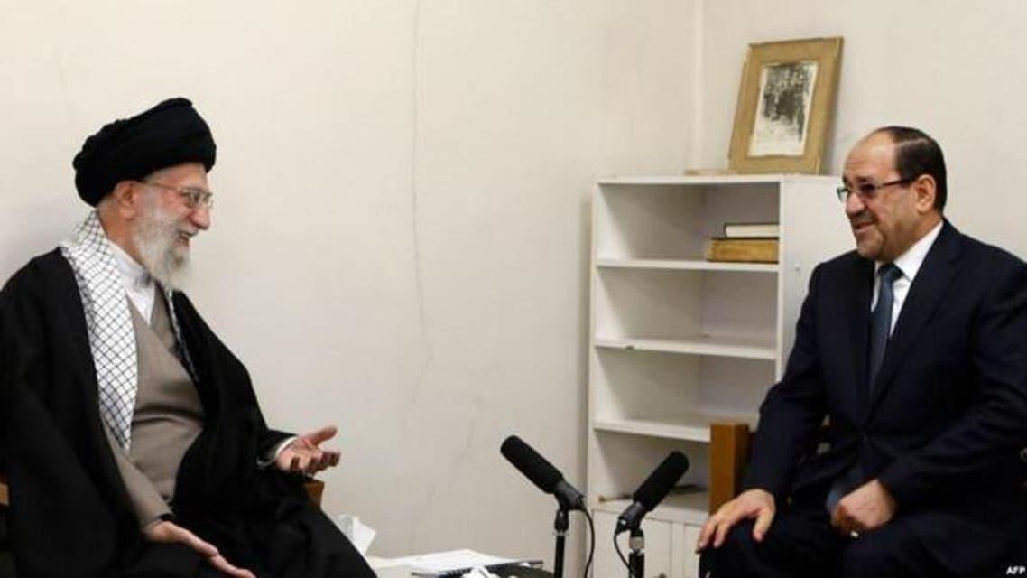 خامنہ ای سابق عراقی صدر نوری المالکی سے ملاقات کررہے ہیں۔