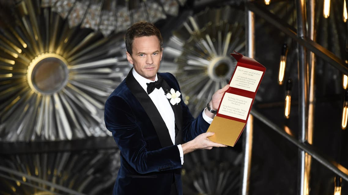 Host Neil Patrick Harris talks to the audience on stage at the 87th Oscars February 22, 2015 in Hollywood, California. AFP