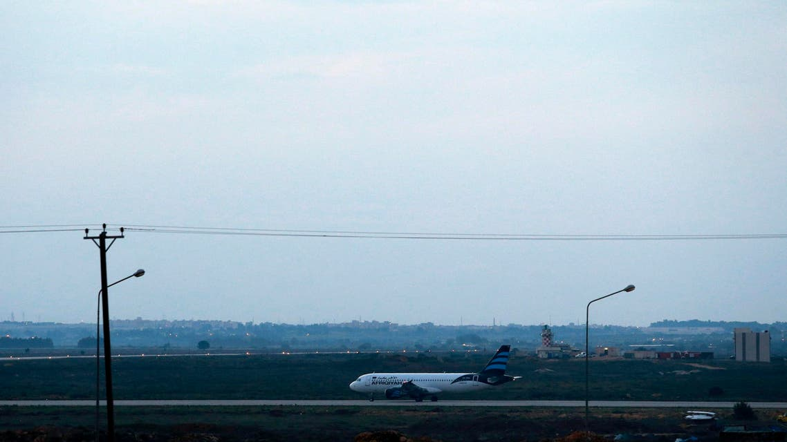 طائرة في مطار الأبرق في ليبيا