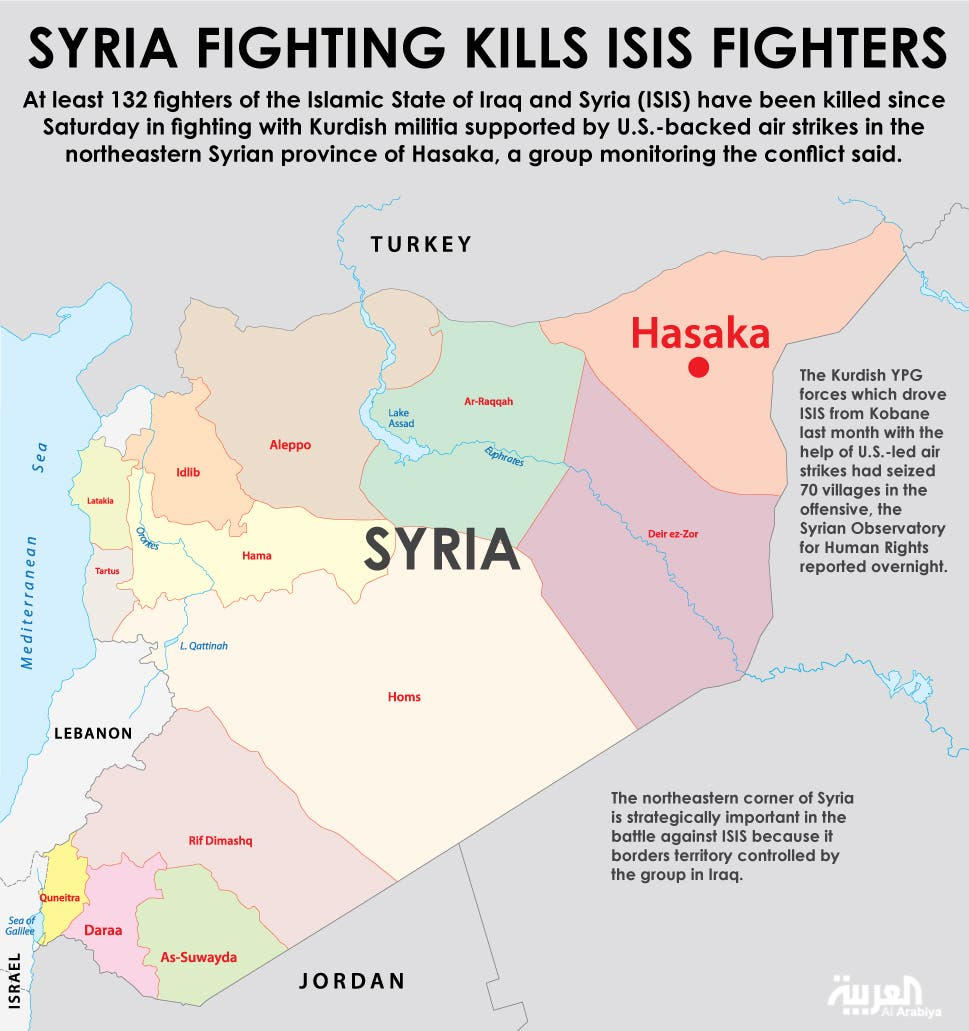Infographic: Syria fighting kills ISIS fighters