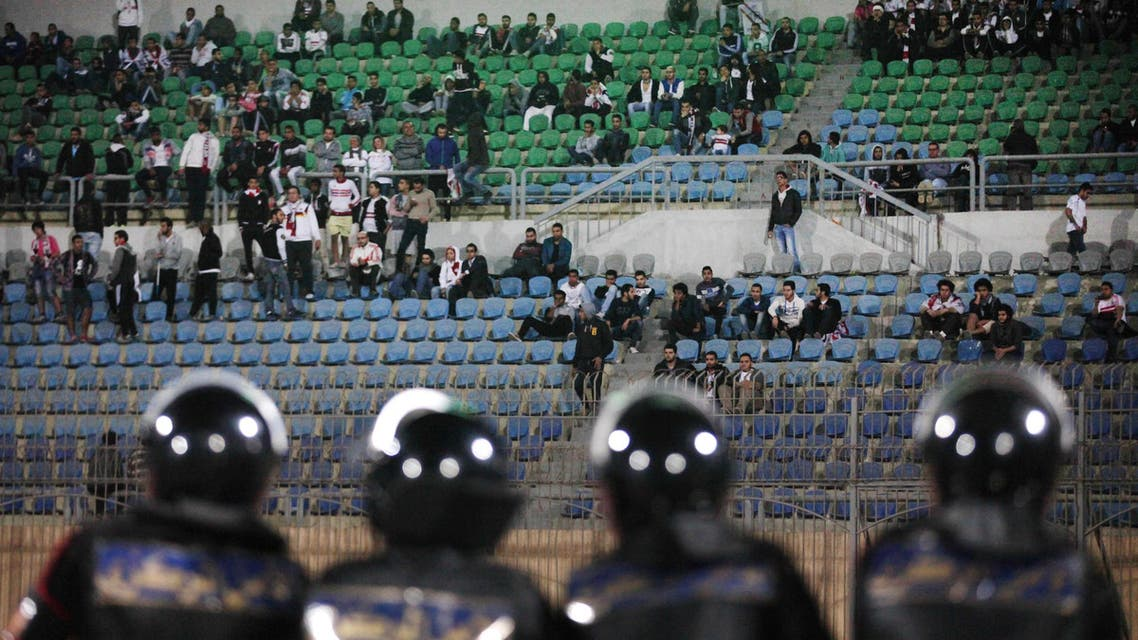 Egypt soccer football stadium AP