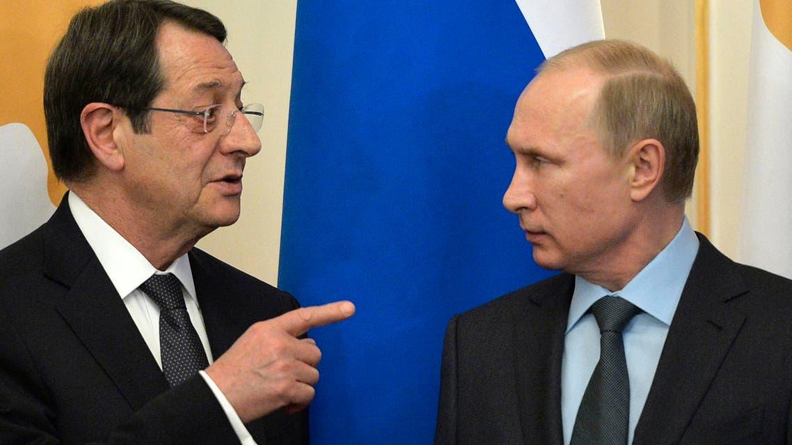 الرئيسان الروسي والقبرصي