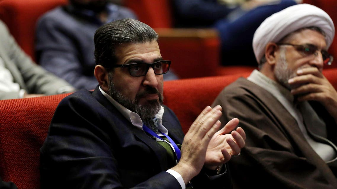 Seyed Mohammad Sadegh Kharazi, a former Iranian diplomat and head of the new reformist party, Nedaye Iranian, attends congress of the newly formed party in Tehran on February 26, 2015. (AFP)