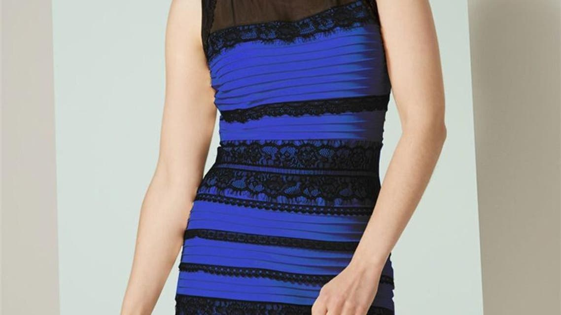 his undated image obtained from Roman Originals shows the dress that has created an intense internet debate. Is the dress black and blue, or white and gold? That question is lighting up the Internet. (AFP)