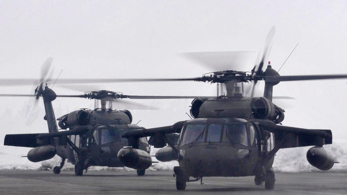 The U.S. military deployed two Black Hawk helicopters on Monday in response to Montenegro's appeal to NATO for urgent help for thousands of snowbound people in the north of the country. (AP Photo