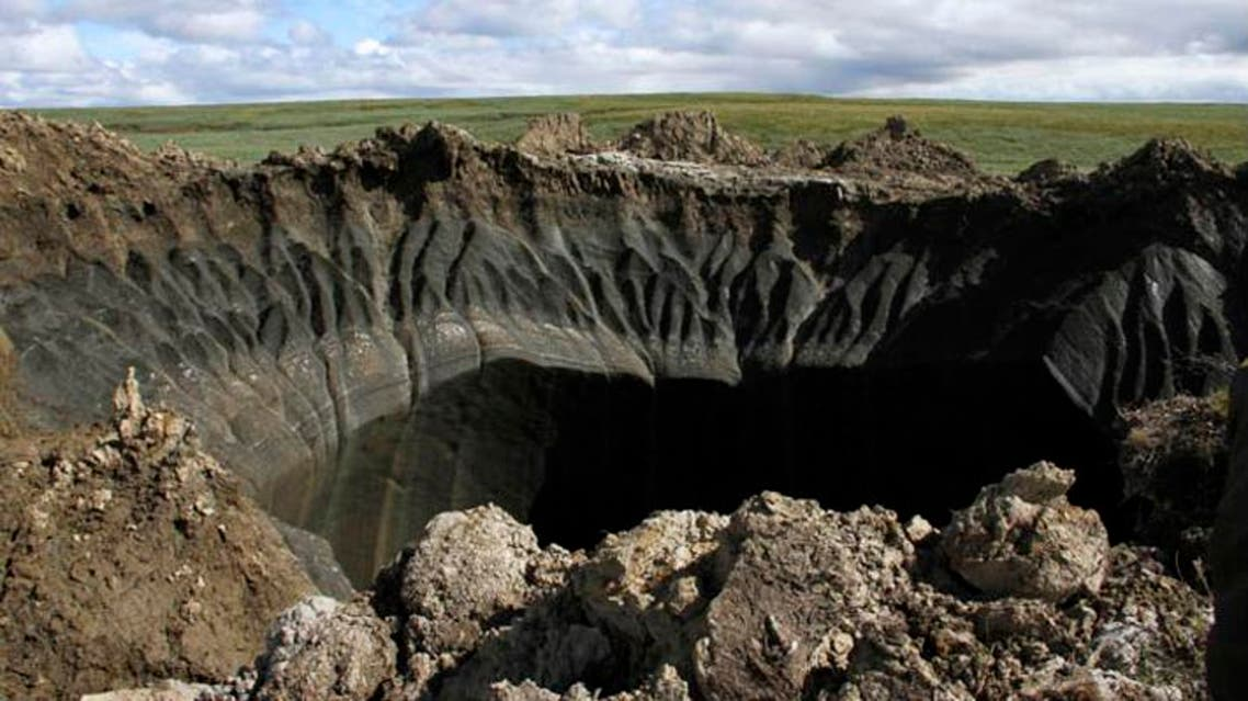 The Yamal hole, which in 30 kilometers from Bovanenkovo. (Photo courtesy: Marya Zulinova/Yamal regional government's press service/ Siberian Times)