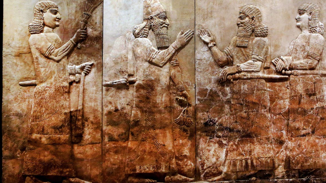 This Monday, Sept. 15, 2014 photo shows, bas-relief displayed at the Iraqi National Museum in Baghdad. (AP)