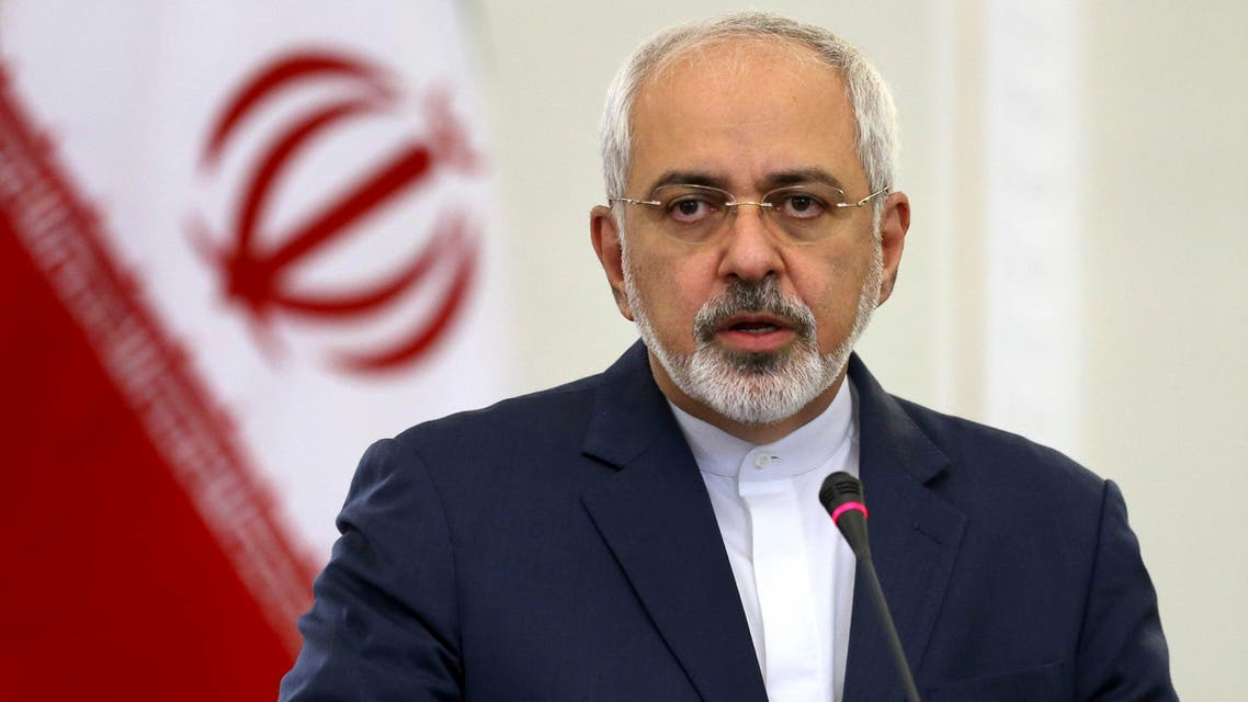 Iranian Foreign Minister Mohammad Javad Zarif speaks in a joint press conference with his Turkish counterpart Mevlut Cavusoglu in Tehran, Iran, Wednesday, Dec. 17, 2014. AP
