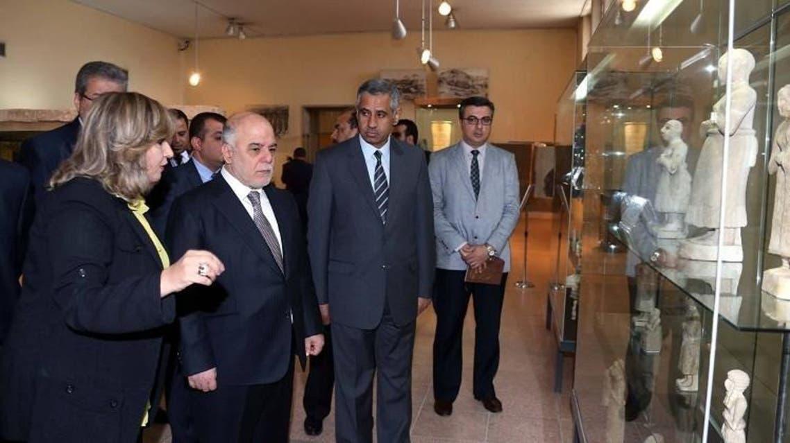 العبادي خلال إعادة افتتاح المتحف الوطني في العراق