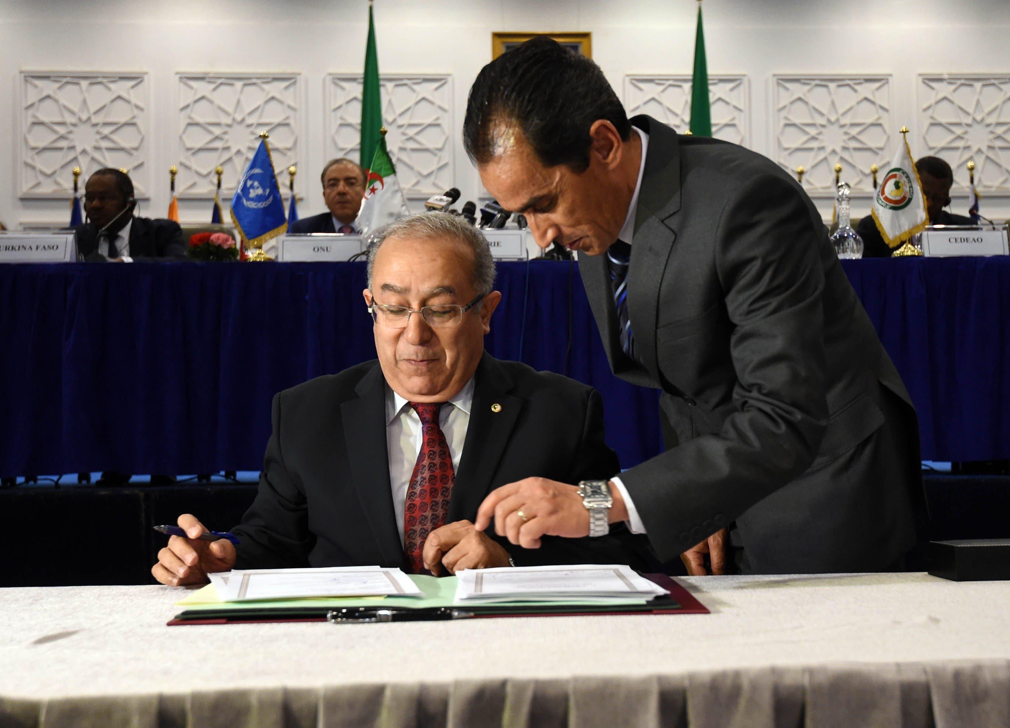 Algerian Foreign Minister Ramtane Lamamra AFP