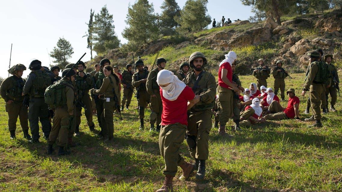 جانب من تدريبات الجيش الإسرائيلي في الضفة الغربية
