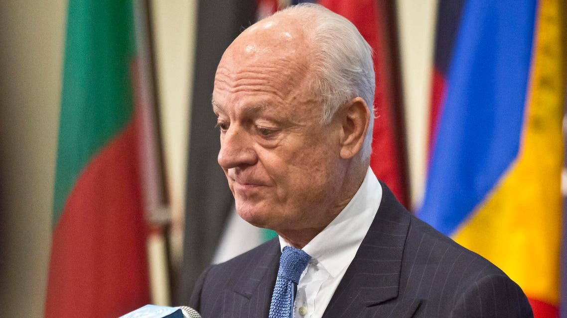 U.N. Syria envoy Staffan de Mistura listens during a press conference after his meeting with the U.N. Security Council, Thursday, Oct. 30, 2014. (File photo: AP)