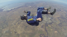 Watch dramatic rescue of a skydiver suffering seizure during freefall