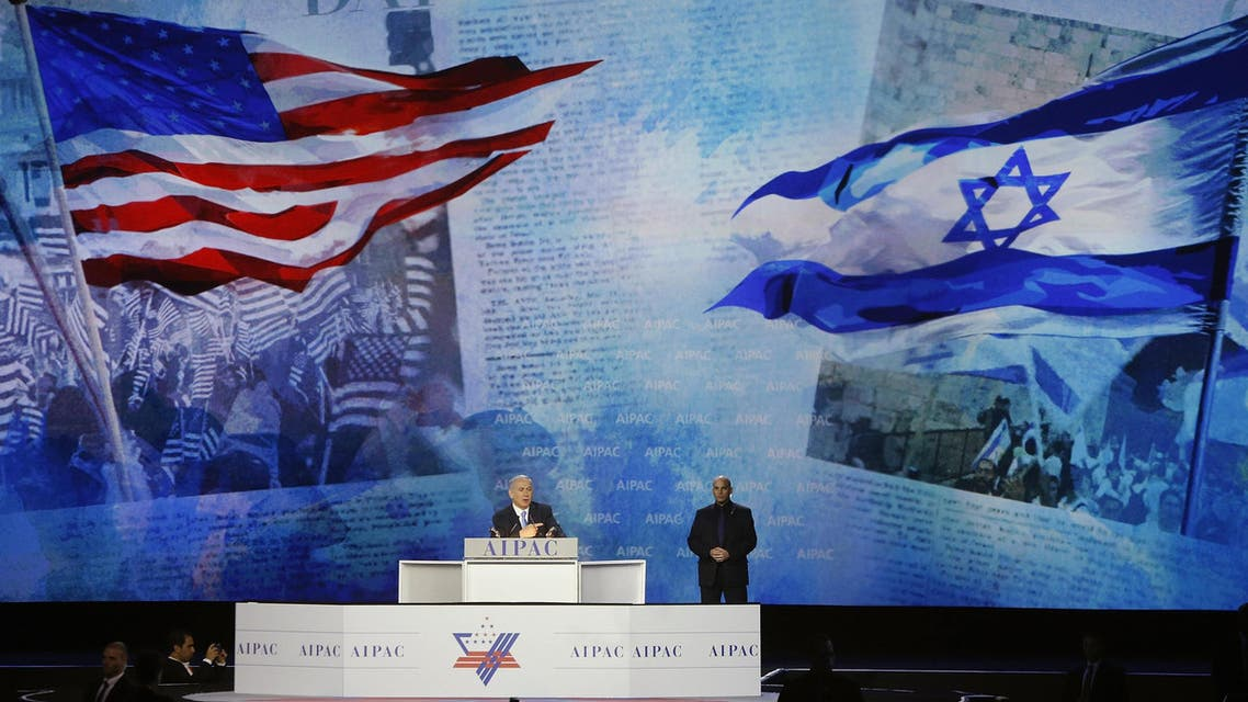 Israel's Prime Minister Benjamin Netanyahu addresses the American Israel Public Affairs Committee (AIPAC) policy conference in Washington, March 2, 2015. (Reuters)