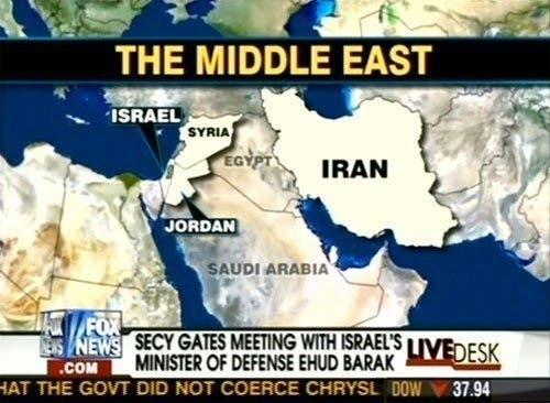 Fox News Middle East map