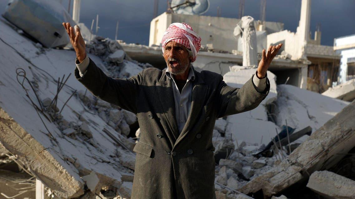 آثار الدمار بسوريا جراء ضربات الأسد الجوية