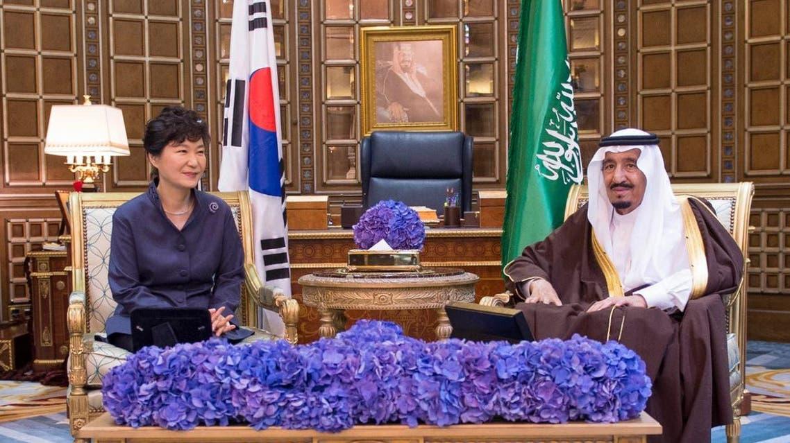Saudi King Salman South Korean President Park Geun-hye SPA