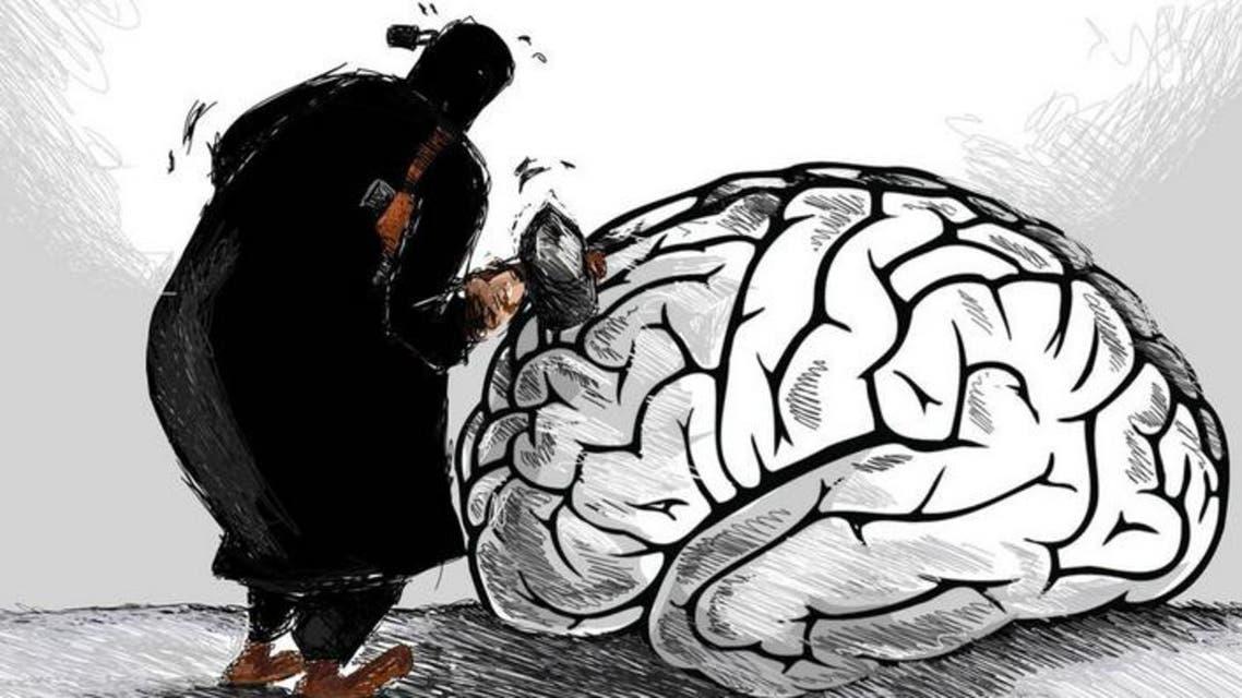 رسم كاريكاتوري يسخر من داعش
