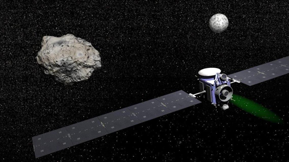 Illustration of probe visiting dwarf planet Shutterstock