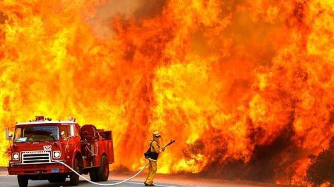 حريق نار اطفاء
