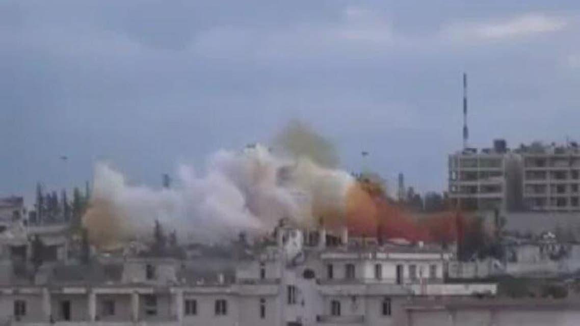 THUMBNAIL_ لحظة تفجير مبنى المخابرات الجوية في حلب