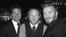 David Beckham, Tom Cruise climb London monument to take 'extreme' selfie