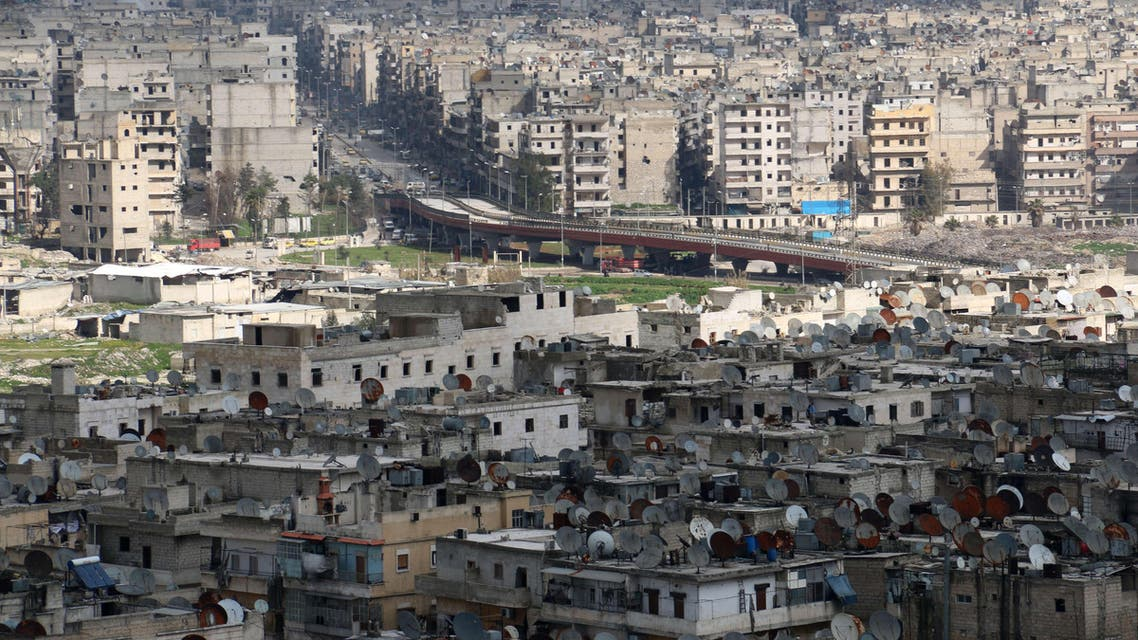 A general view taken on March 3, 2015 shows the northern Syrian city of Aleppo. Once Syria's commercial hub, Aleppo has been devastated by fighting that began in mid-2012. (Reuters)