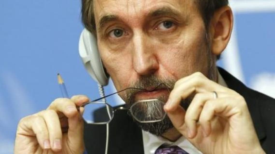 Jordan's Prince Zeid Ra'ad Zeid al-Hussein, U.N. High Commissioner for Human Rights listens during a news conference at the United Nations European headquarters in Geneva Oct. 16, 2014.  (Reuters)