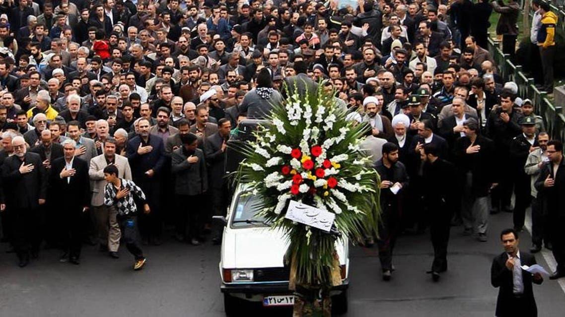 تشييع محمد علي خاوري في ورامين بالقرب من طهران