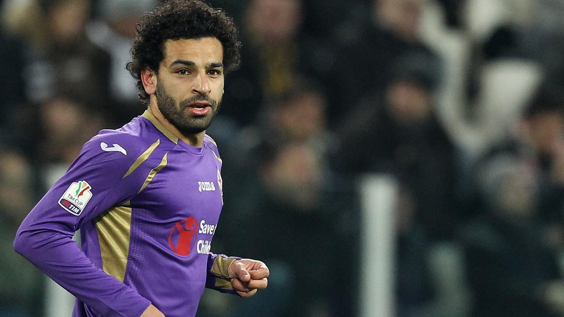 """Fiorentina's Egyptian midfielder Mohamed Salah looks on during the Italian Tim cup football match Juventus Vs Fiorentina on March 5, 2015 at the """"Juventus Stadium"""" in Turin. AFP"""