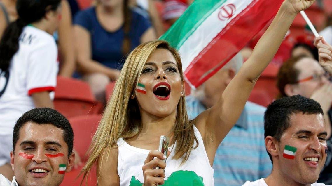 جماهير إيران مشجعات إيرانيات ايران بنات إيران