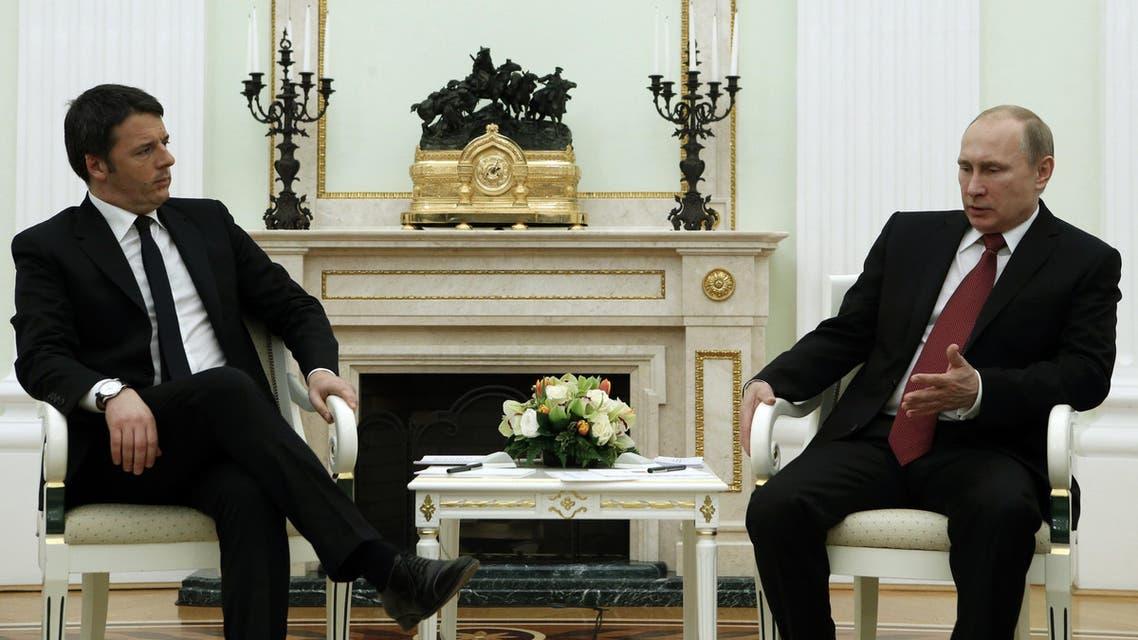 لقاء الرئيس الروسي فلاديمير بوتين ورئيس الوزراء الإيطالي ماتيو رنزي في الكرملين